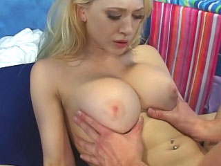 Awesome horny blonde cookie getting face fucked and loving it