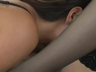 Sweet caressing and wild sex-toy play with charming lesbian babes