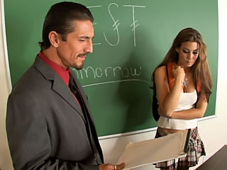 Busty shy unpractised cherry getting railed by dirty teacher