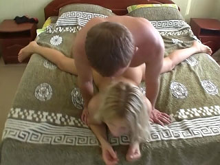 Chick with nice round bore getting gaped deep by nasty guy