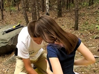 Gorgeous teenie getting screwed hard by accidental man outdoors