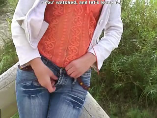 Hot inferior girl sucking and getting screwed by one guy