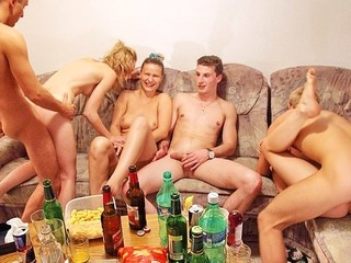 Check out this fantastic fuckfest sex porn clip with horny students banging each other at college party