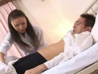 Shinobu Todaka gets felt out by a doctor here letting him mess with her lovely unshaved fur pie and then this babe ends up getting fucked like mad!
