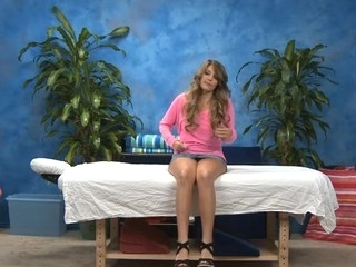 Hawt eighteen year old playgirl gets fucked hard from behind by her massage therapist