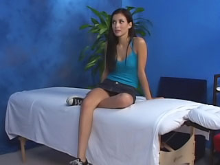 Gorgeous cute teen want hard making love after hot massage