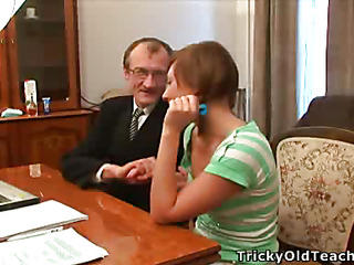 Gorgeous juvenile beauty with valuable whoppers and sexy lips gets banged by her old professor.