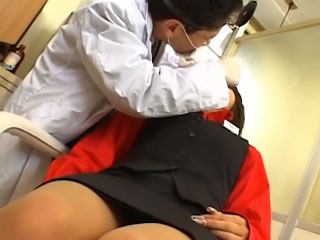 Lovely young asian gets on her knees to suck a thick dick