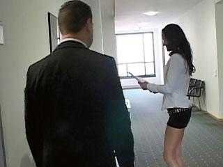 Naughty secretary with fetching ass getting drilled at office