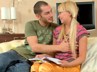 Blonde cocksucker teen beauty fucking hard anally