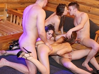 Hawt student party is in the full play and the stripped beauties are pleasing dudes with the college deepthroat and hard fuck.
