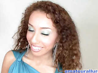 Toni wastes no time getting started and sucks my large dong until I bow her over and slam my pulsating member into her taut cookie then I discharge a huge cum discharged onto her tongue and that babe gulps down the large load.