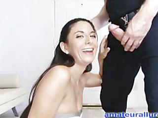 Jackie is an aggressive hard body sweetheart that likes to engulf dick and swallow cum. This Babe wastes no time, and gets on her knees and starts engulfing. Thomas copulates her constricted little twat hard from behind as this babe supplicates for it harder, during the time that her merry little titties are bouncing back and forth. Then this babe finishes by engulfing him off and taking his load right into her mouth, and that babe shows it in advance of this babe swallows.