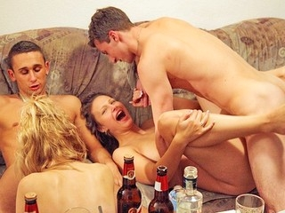 If those pretty party angels had an exam in anal fucking they would all get A+! Watch 'em in action!