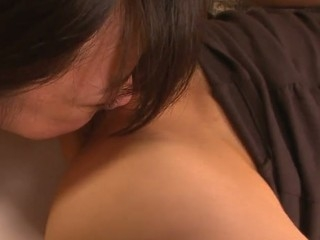 School beauty Aoba Itou gets into a nasty threesome with her boss and his wife and enjoys in pleasing 'em one as well as the other- her with a wonderful cum-hole licking and fingering session and him with a nasty penis engulfing on her knees in this threesome session in the bedroom