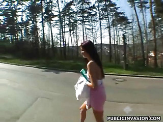 Pretty legal age teenager beauty lowers guy's pants to engulf his dick