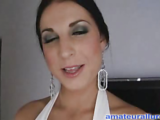 Racquel is a gorgeous twenty year old brunette hair, with all natural mounds and a tiny shaved snatch.  This Babe is a total rod engulfing freak, that can't appear to be to get sufficiently cum in her mouth. When u watch what that babe does to my dick u will understand. That Babe rode my penis like a pro and then I flipped her over and stretched her twat good. We had a banging good time and that babe swallowed a sticky load.